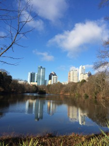 Piedmont Park on Christmas morning