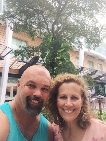 Vance and Cindy on a cruise years after they survived marriage boot camp