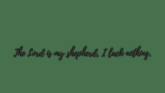 text Psalm 23, 1