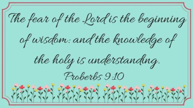 Proverbs 9, 10