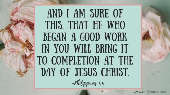 Philippians 1:6. Bible verse.