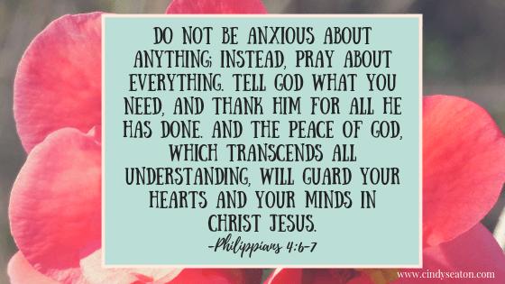 Philippians 4: 6-7. Bible verse.