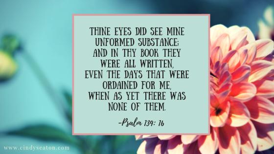 Psalm 139:16, Bible verse