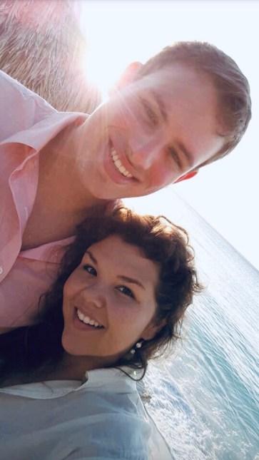 Josh and Courtney on their honeymoon