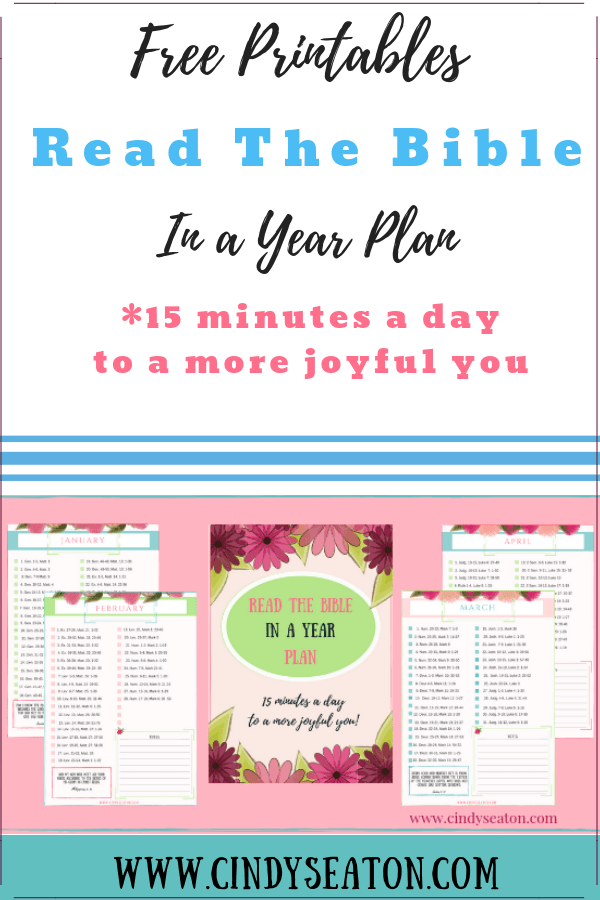 Read The Bible In A Year Free Printable Cindy Seaton