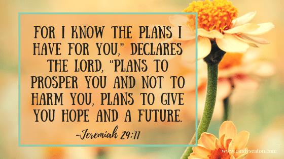 Bible verse, Jeremiah 29: 11.
