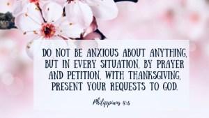 Bible verse, Philippians 4:6