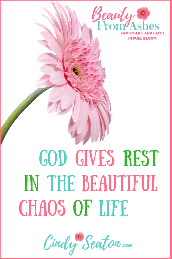God gives rest. Pinterest photo