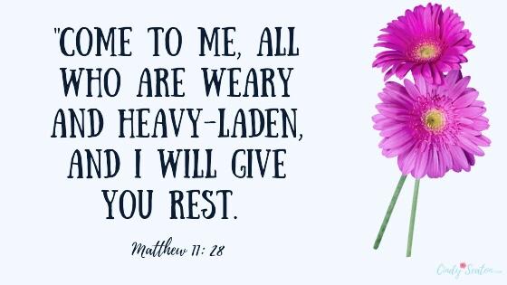 Bible verse Matthew 11: 28