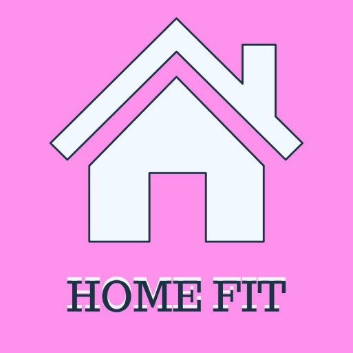 Home Fit logo: pink house