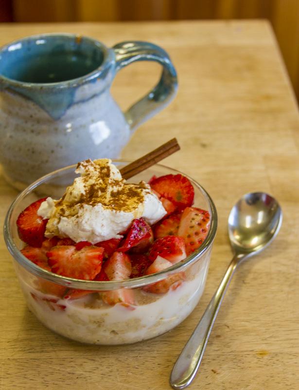 yogurt strawberry breakfast