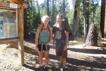 Backpackers in the woods