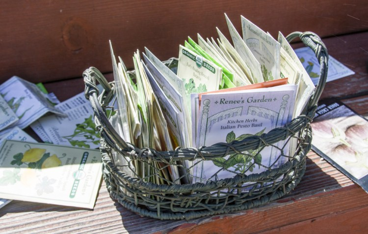 seed packs in basket
