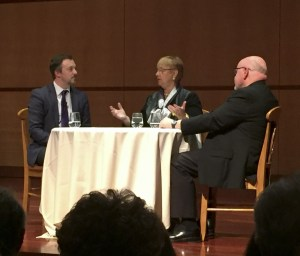 Lidia Bastianich on stage at SCU