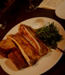 A shareable plate of marrow at the Stanbury.