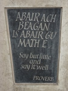 Gaelic proverb