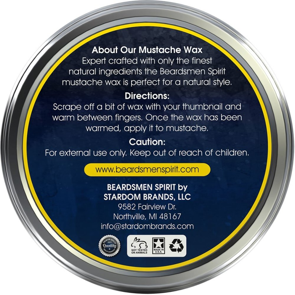 Beardsmen Mustache Wax- Medium Hold- Beardsman Spirit (2/3)