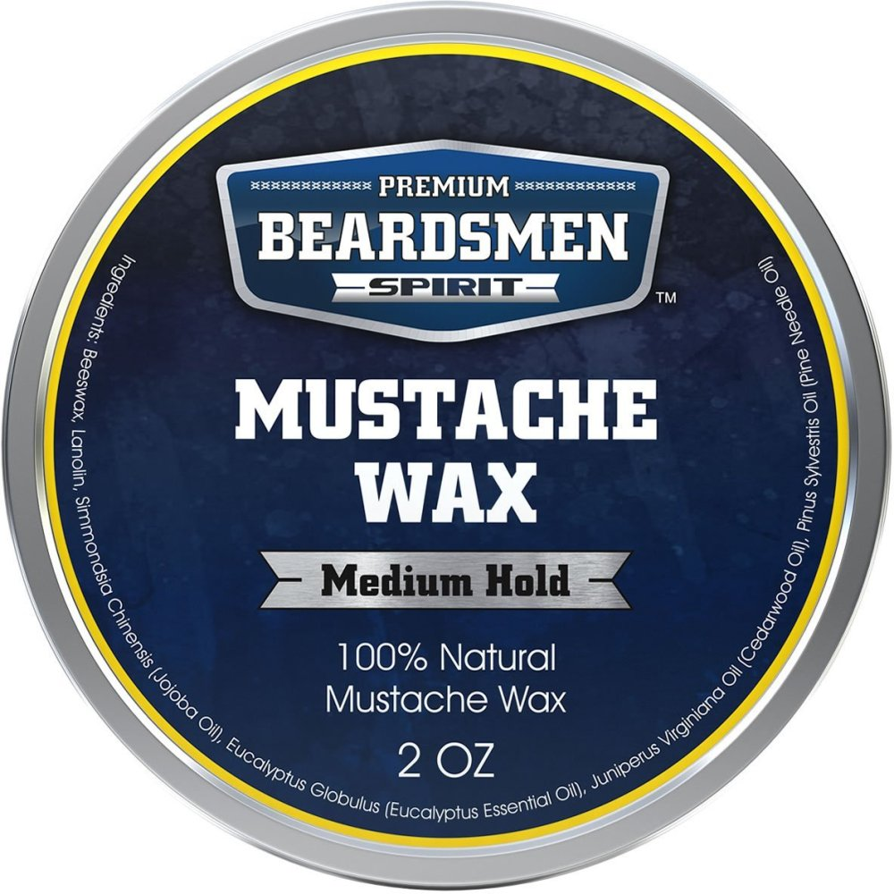 Beardsmen Mustache Wax- Medium Hold- Beardsman Spirit (1/3)