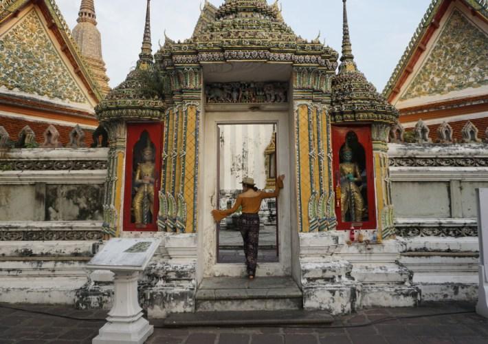 Cindy at Wat Pho temple Bangkok Thailand