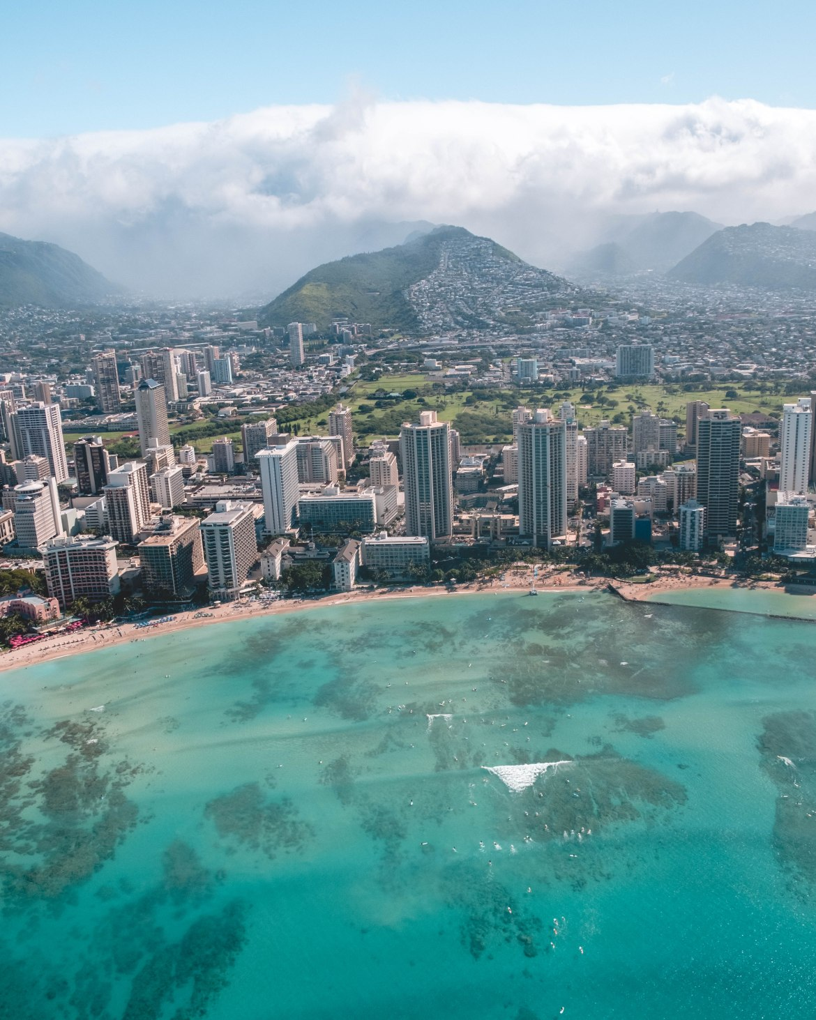 Oahu from above