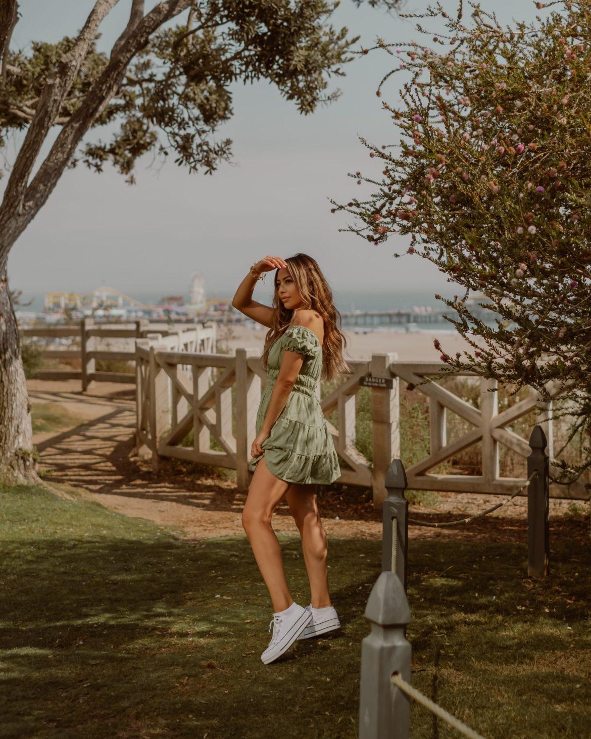 Santa Monica, summer outfit, los angels travel