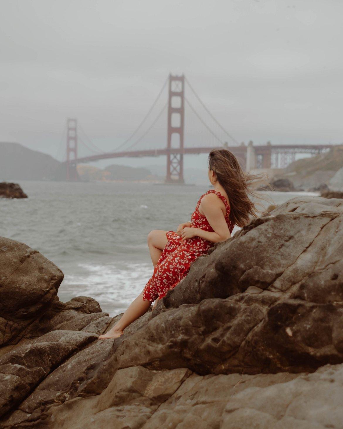 Golden Gate Bridge views from Baker Beach, San Francisco