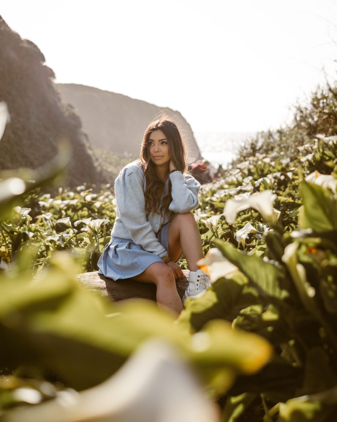 Big Sur outfit, Big Sur photoshoot, Calla Lily Valley, California outfit