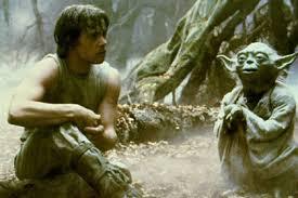 yoda et Luke grotte de  Dagoba