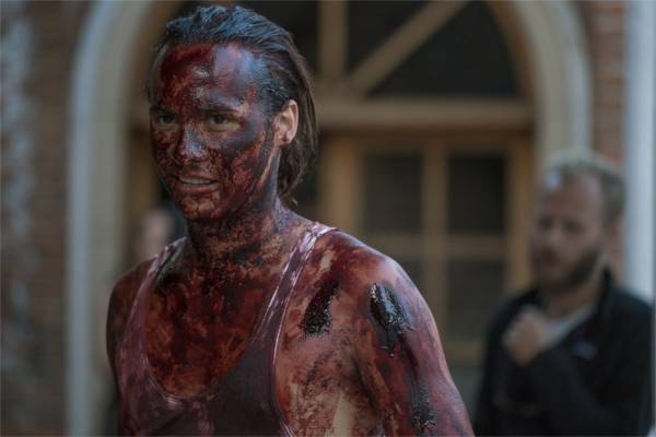 Me barbouiller de sang? Pas de soucis. C'est presque fun, même. - photo Richard Foreman Jr pour AMC