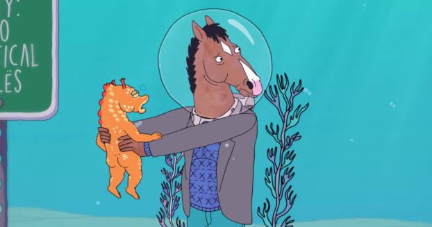 BoJack Horseman meets Yellow submarine