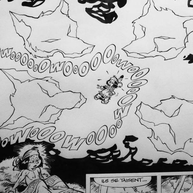 Planche originale de Yakari exposée au Festival d'Angoulême
