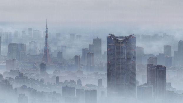 Tokyo dans la brume