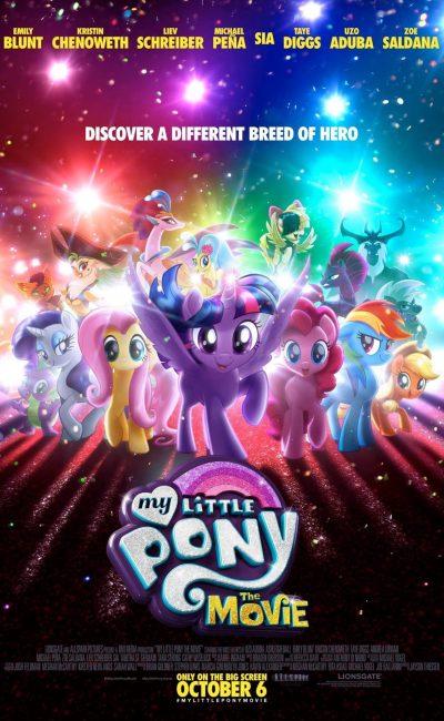 En My Little Pony: La Película (My Little Pony: The Movie), una nueva fuerza oscura amenaza Ponyville, por lo que Twilight Sparkle, Applejack, Rainbow Dash, Pinkie Pie, Fluttershy y Rarity tendrán que embarcarse en un emocionante viaje más allá de sus fronteras para intentar salvar su hogar.