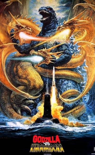 Godzilla vs king ghidora affiche