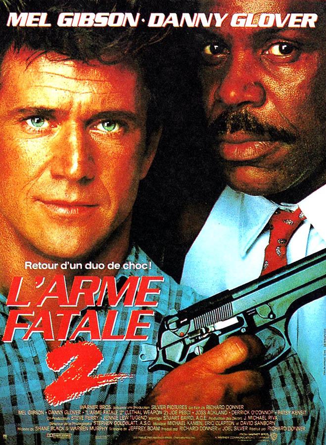 Affiche de l'arme fatale 2 (Lethal Weapon) avec Danny Glover et Mel Gibson