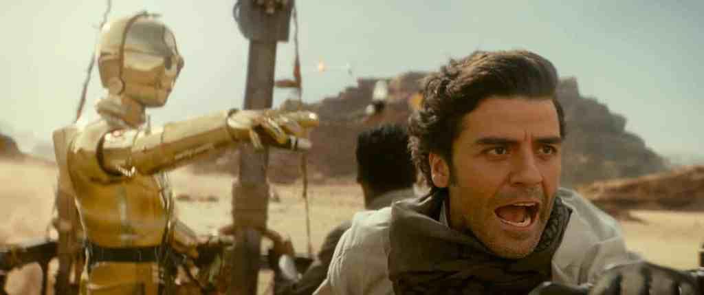 Osxar Isaac dans Star Wars l'ascension de Skywalker