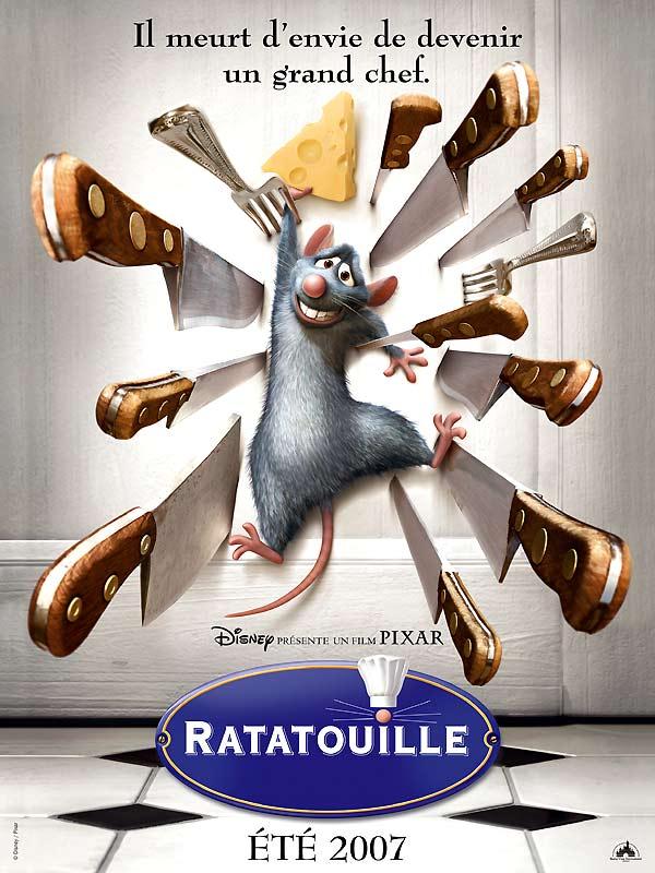 Ratatouille, l'affiche française du film Pixar