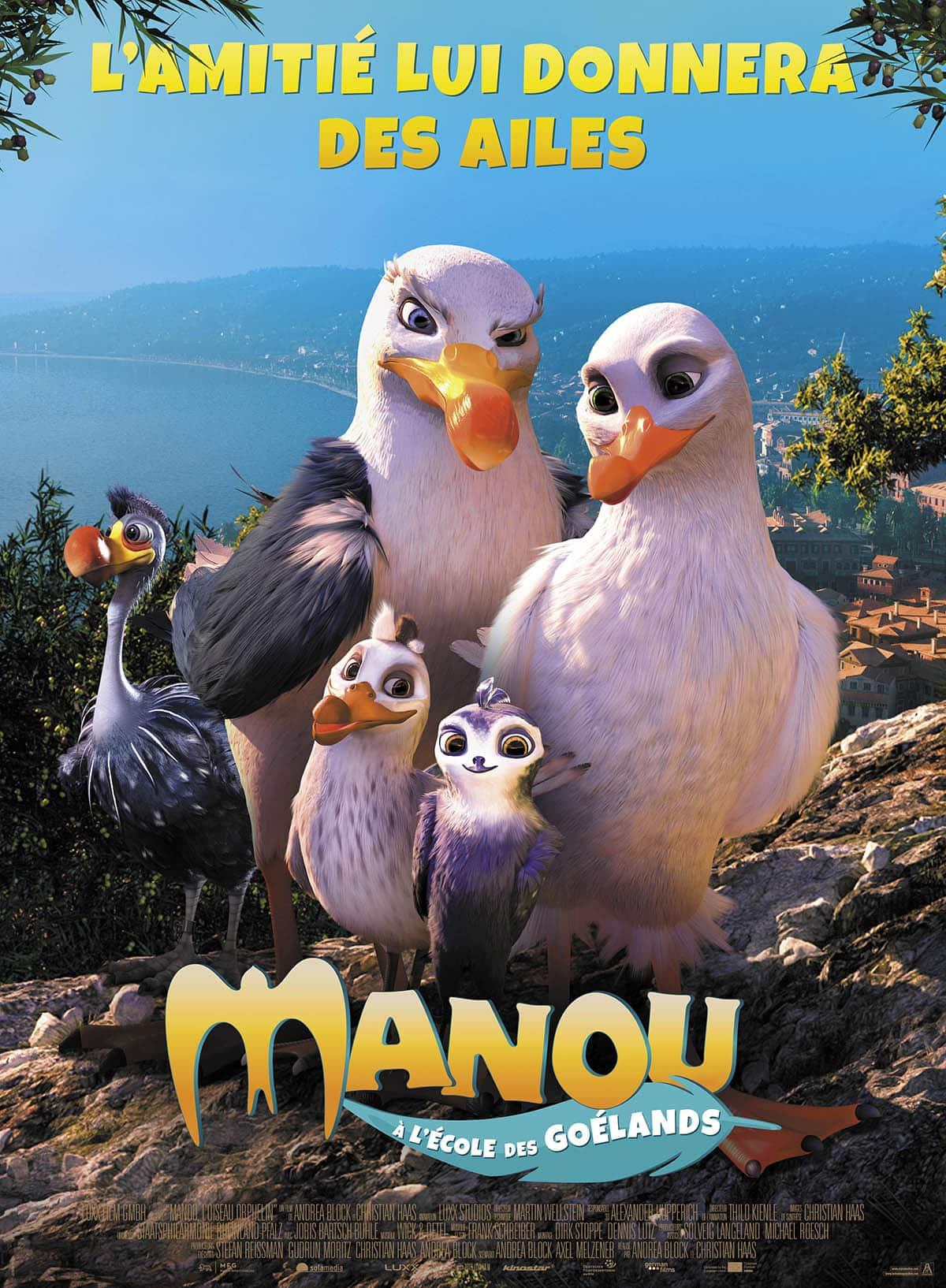 Manou à l'école des goélands affiche du film