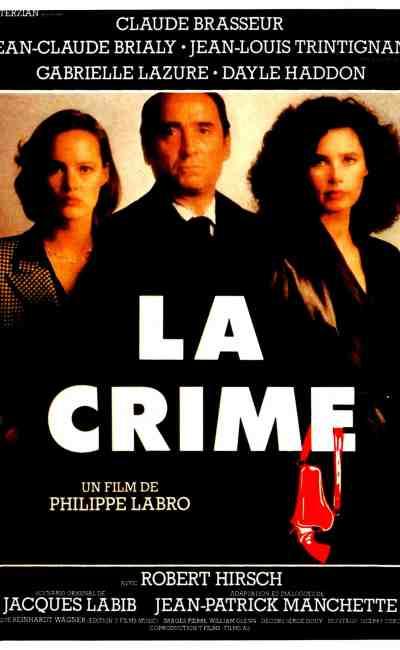 Philippe Labro réalise La crime, découvrez l'affiche