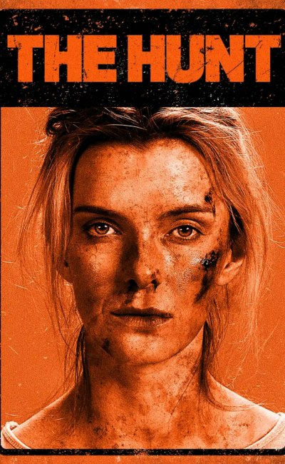 Betty Gilpin dans The Hunt (affiche VOD)