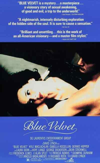 Affiche américaine du film de David Lynch, Blue Velvet