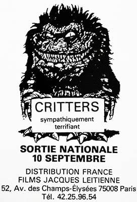 Critters, teaser magazine, Les films Jacques Leitienne
