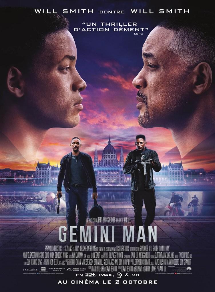 Affiche française de Gemini Man, avec Will Smith