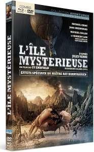 L'île mystérieuse, jaquette du combo DVD / Blu-ray