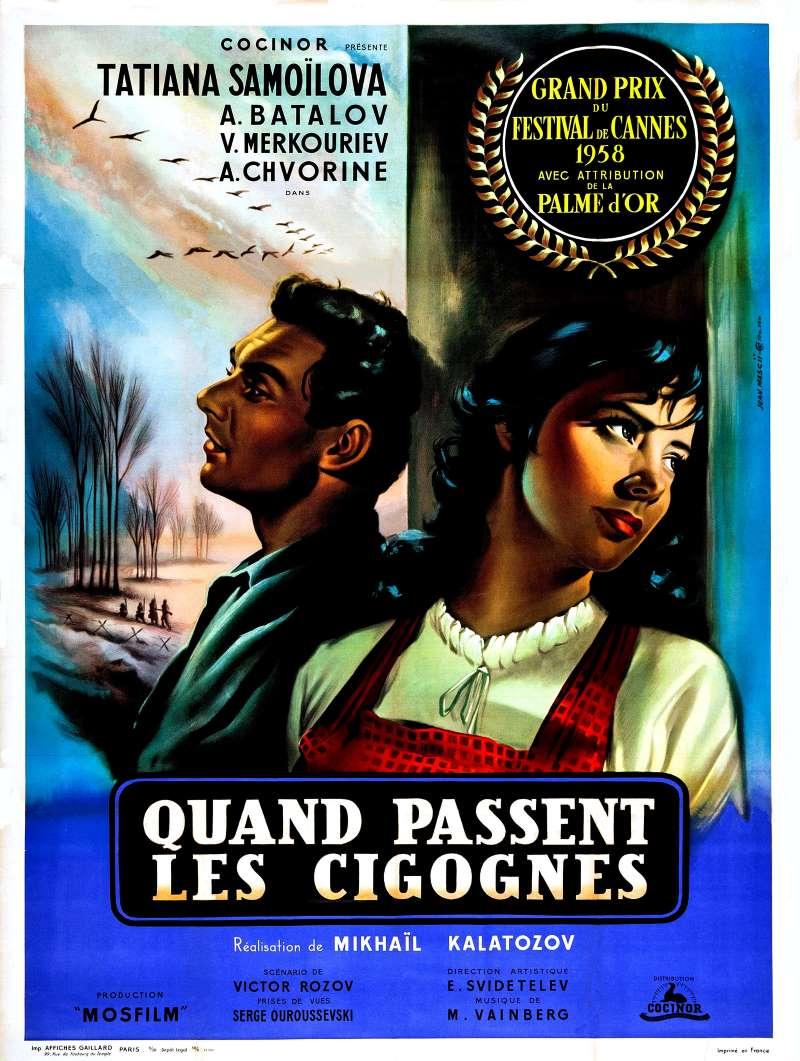 Quand passent les cigognes, l'affiche française