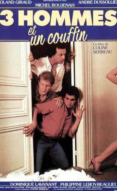 Affiche française de 3 hommes et un couffin