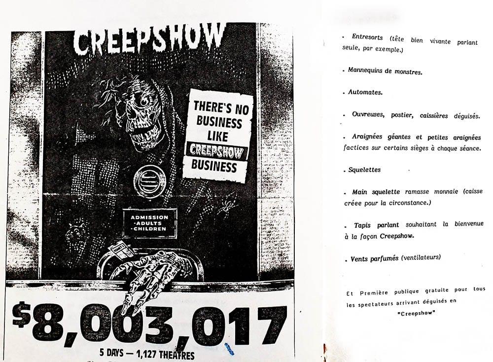 Creepshow-business : Creepshow s'affiche dans Variety