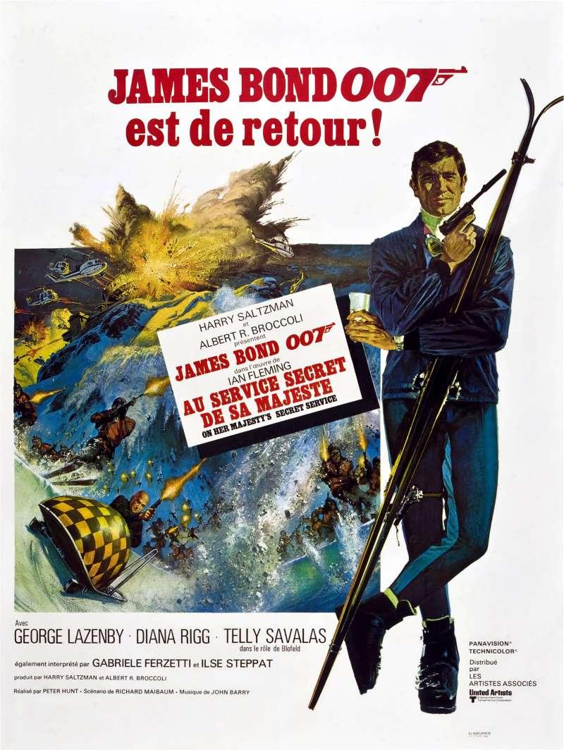 Au service secret de Sa Majesté, l'affiche du James Bond