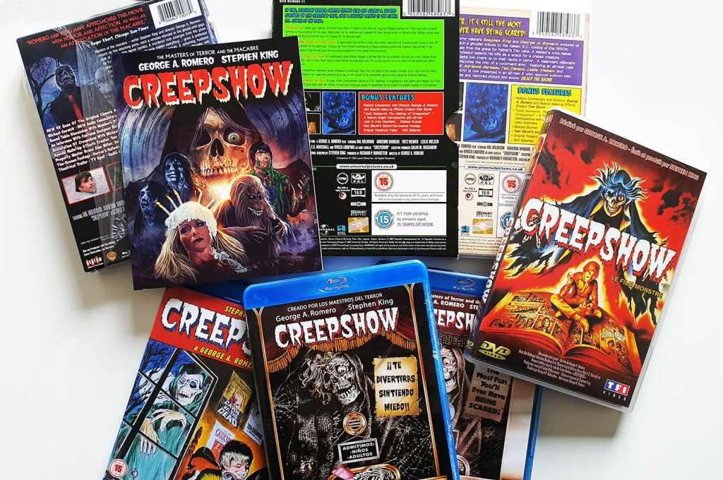Creepshow 1 en quelques DVD et blu-ray internationaux
