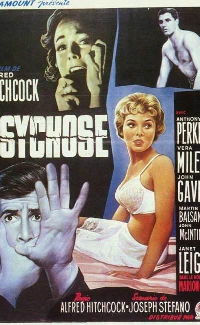 Affiche de Psychose d'Alfred Hitchcock